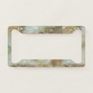 Elegant Green Marble License Plate Frame