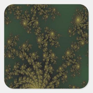 Elegant Green Oriental Pleasure Square Sticker