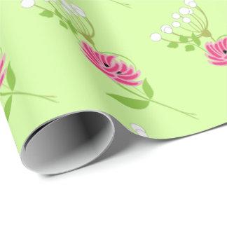 Elegant Greenery Wild Flowers Pink Green