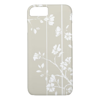 Elegant Grey and White Floral iPhone 7 Case