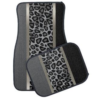Elegant Grey, Black and Leopard Animal Design Car Liners