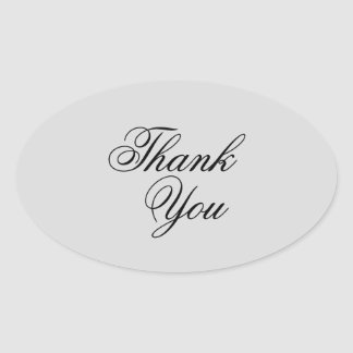 Elegant grey & black thank you stickers
