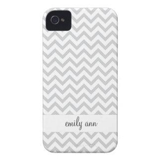 Elegant Grey Chevrons Pattern Case-Mate iPhone 4 Case