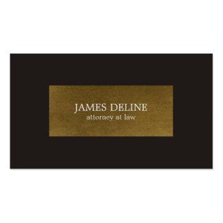 Elegant Grey Copper Attorney Business Card