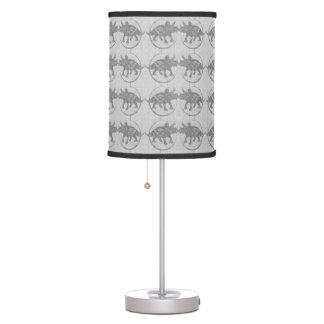 Elegant Grey Dinosaur Pattern Lamp