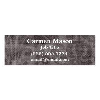 Elegant Grey Fabric Mini Business Card