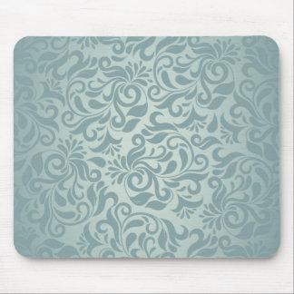 Elegant Grey/Green Damask Mouse Pad