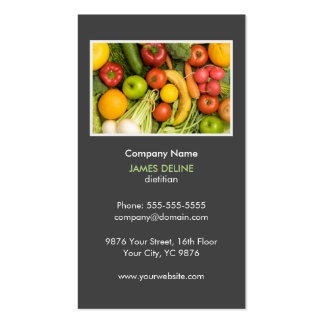 Elegant Grey Nutritionist Diet Health Business Card
