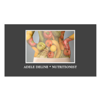 Elegant Grey Nutritionist Diet Health Double-Sided Standard Business Cards (Pack Of 100)