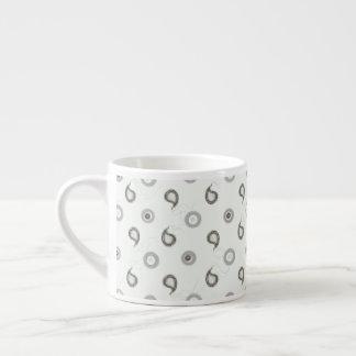 Elegant Grey Paisley Espresso Cup