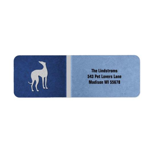 Elegant Greyhound Silhouette in Blue Custom