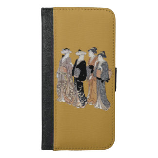 Elegant Group of Pretty Japanese Geisha Ladies iPhone 6/6s Plus Wallet Case