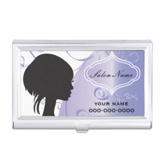Elegant Hair Salon Stylist Business Card Holder