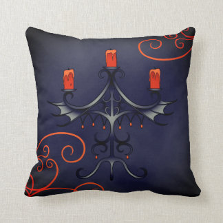 Elegant Halloween candelabra Throw Pillow