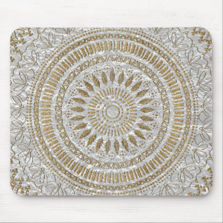 Elegant hand drawn tribal mandala design mouse pad