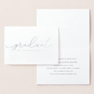 Elegant Handwritten Graduate Script (Real Foil) Foil Card