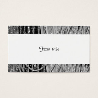 Elegant Hanging Glass Beads Business Card
