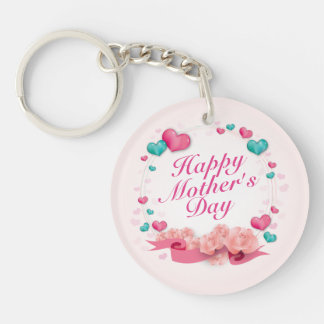 Elegant Happy Mother's Day Candy Hearts Keychain