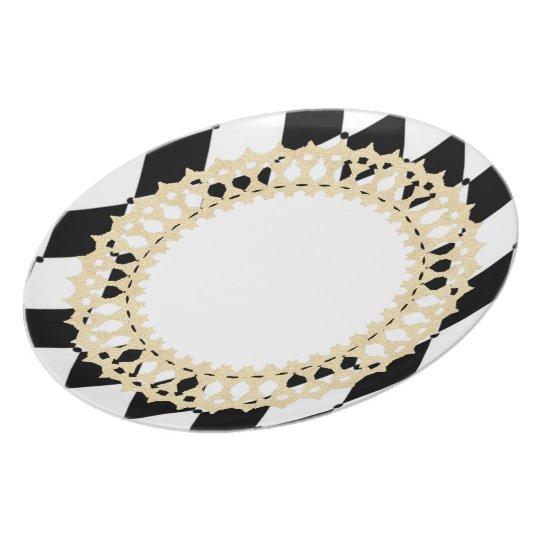 Elegant-Harlequin_French_Gold-Shield---Dinnerware Plate
