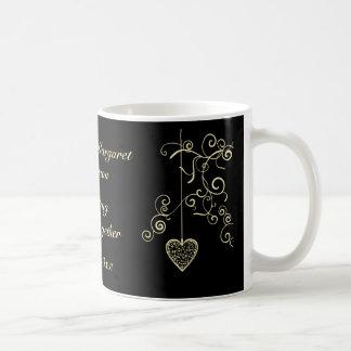 Elegant Heart Golden Wedding Anniversary Mug
