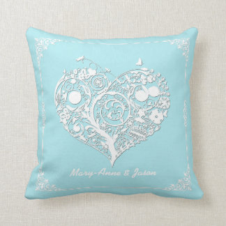Elegant Heart Newly Wed Decorator Pillow