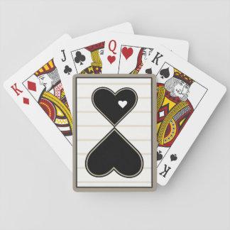 Elegant Heart on Heart Poker Deck