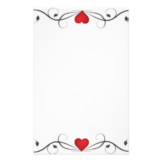 Elegant Heart Tattoo Stationary Stationery