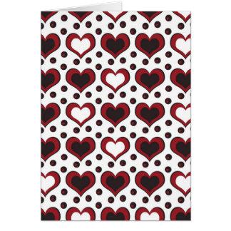 elegant hearts card