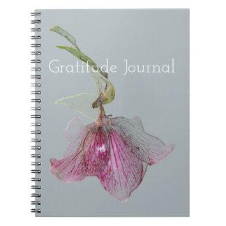 Elegant Hellebore Flower Floral Print Spiral Notebooks