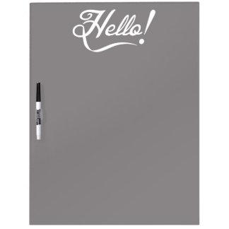 Elegant Hello Dry Erase Board