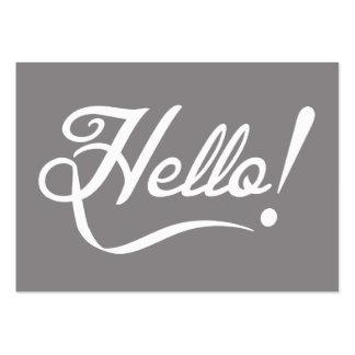 Elegant Hello Large Business Card