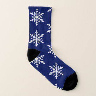 Elegant Holiday Blue and White Snowflakes Pattern 1