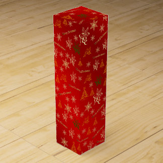 elegant holiday merry christmas gift colored stars wine box