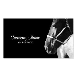 Elegant Horse Side Head Black Business Card