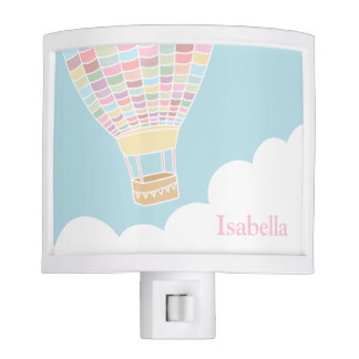 Elegant Hot Air Balloon Nursery Room Night Light