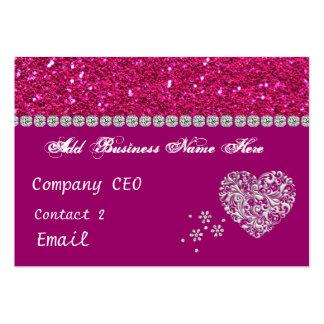 ELEGANT HOT PINK GLITTER Business Card