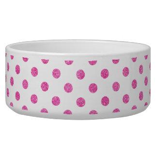 Elegant Hot Pink Glitter Polka Dots Pattern