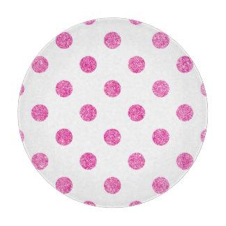 Elegant Hot Pink Glitter Polka Dots Pattern Boards