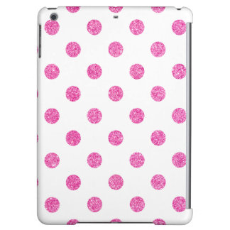 Elegant Hot Pink Glitter Polka Dots Pattern iPad Air Cases