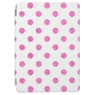 Elegant Hot Pink Glitter Polka Dots Pattern iPad Air Cover