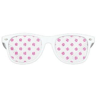 Elegant Hot Pink Glitter Polka Dots Pattern Party Sunglasses