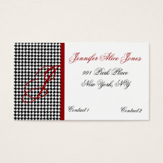 Elegant Hounds Tooth Pattern Business Card