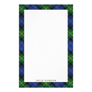 Elegant House of Gordon Clan Tartan Plaid Custom Stationery