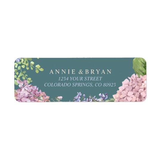 Elegant Hydrangeas Return Address Label