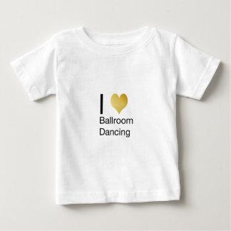 Elegant I Heart Ballroom Dancing Baby T-Shirt