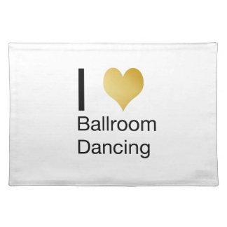 Elegant I Heart Ballroom Dancing Placemat