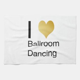 Elegant I Heart Ballroom Dancing Towels