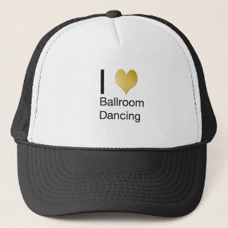 Elegant I Heart Ballroom Dancing Trucker Hat