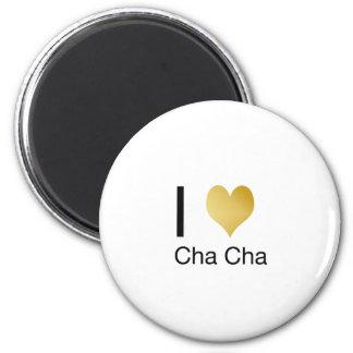 Elegant I Heart Cha Cha 2 Inch Round Magnet