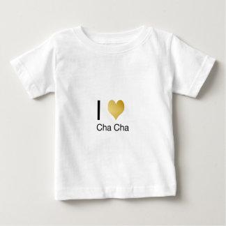 Elegant I Heart Cha Cha Baby T-Shirt